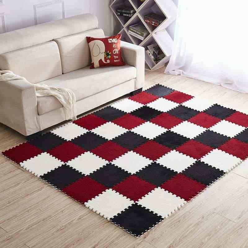 בית משרד להשתמש שלובים שטיח אריחי פאזל מחצלת שטיח לסלון חדר שינה Playmat 30.5*30.5cm 1pc אזור שטיח