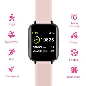 Image 3 - Inteligentna bransoletka B57, wodoodporna, sportowa smartwatch, pulsometr, monitor akcji serca, funkcje dla kobiet, mężczyzn, dzieci, dla iPhonea