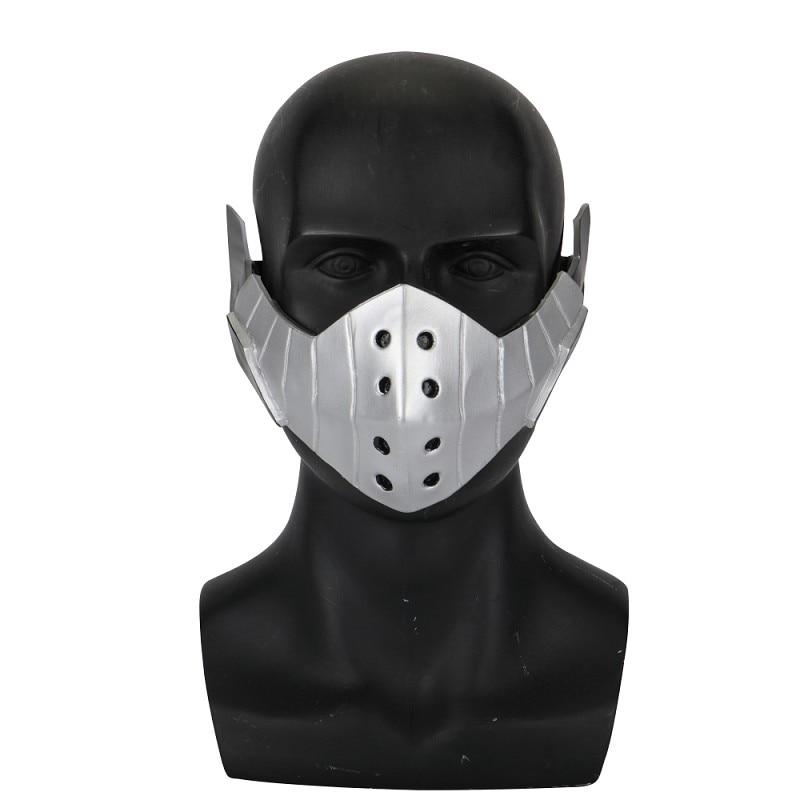 Academia Deku Cosplay Props Comicon Regalo Miaoao-mask Anime Maschera Color : Light Grey
