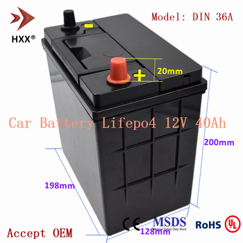 12V 40Ah Starter Lifepo4 Battery Pack CCA 500A Replace Gas Car 12V Lead Acid Battery for Honda-Fit CITY Suzuki Alto Wagon JIMNY image