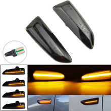 1 Set Dynamic LED Side Marker Lights 12V Flowing Turn Signal Light Side Repeater Lamp Panel Lamp for Opel for Vauxhall Astra J K