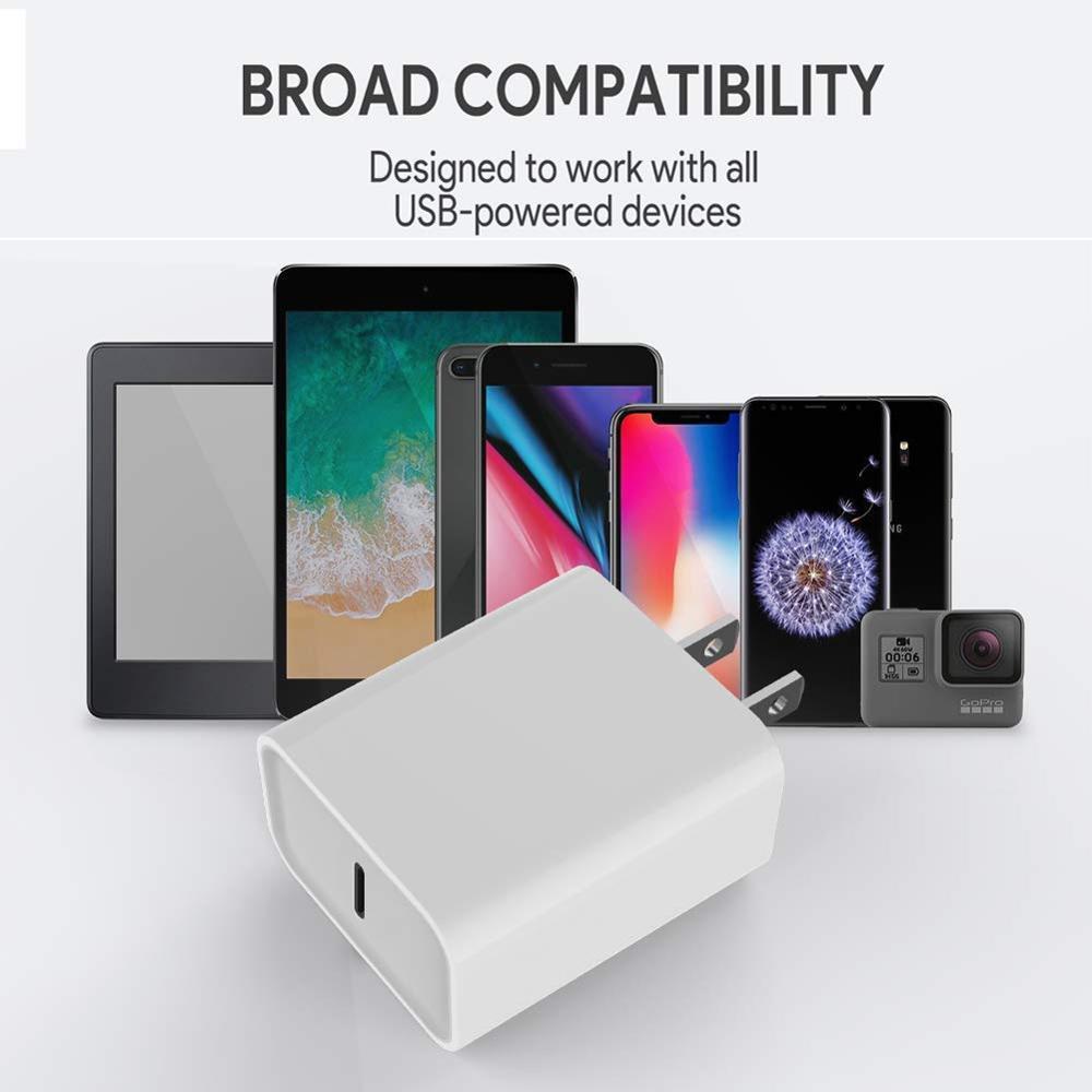 Зарядное устройство USB Type-C PD 18 Вт, адаптер для iPhone 12 11 Pro XS Max 7 8 QC3.0 PD, быстрая зарядка питания Type-C, вилка европейского стандарта для Samsung, Xiaomi-4