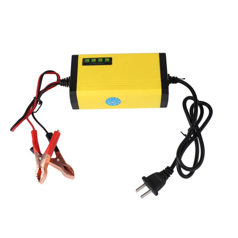 US Plug Mini Portable 12V 2A Car Battery Charger Adapter Power Supply Motorcycle Auto Smart Battery Charger LED Display