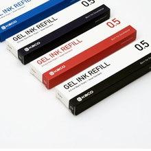 KACOGREEN Refills Gel Ink Refill Standard 10pcs/box Gel Pens 0.5mm EU/Asian Refills School Office Supplies KACO Ink