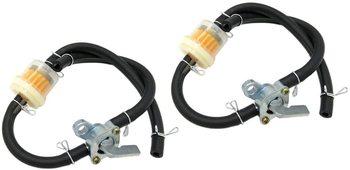 ON OFF przełącznik benzyna gaz kurek paliwa Petcock zawór w przewód giętki i filtr do 50 70 90 110 125 150cc Quad ATV części do montażu 2 sztuk tanie i dobre opinie