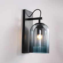 in tiffany style led wall lamp lights for home indoor lighting angel fish design wall sconce lampara de pared e26 e27 Modern Glass Wall Sconce Lights Fixture for Bedside Hallway Decoration Home Lighting Indoor Living Room Indoor Wall Lamp