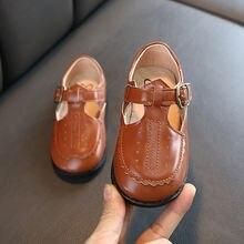 Новинка Весна 2020 мягкая кожаная обувь для девочек винтажная