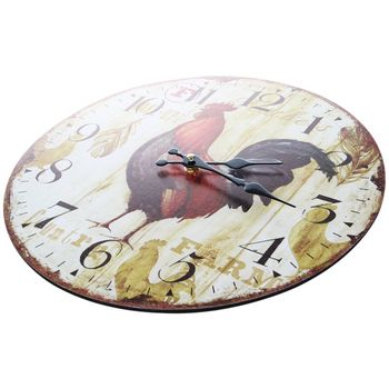 New Vintage Shabby Chic Animals and flowers Style 34cm Wall Clock Home Bedroom Kitchen Quartz (Pattern:Farm)
