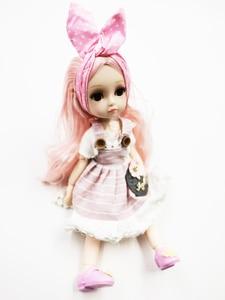 Image 3 - New 1/6 Princess Dressup Doll BJD 26cm Beautiful Girl Doll with Dress