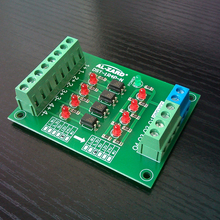 Conversion-Board Isolation Plc 1R4P-N 5-12-24v Level-Voltage Optocoupler Four-Channel