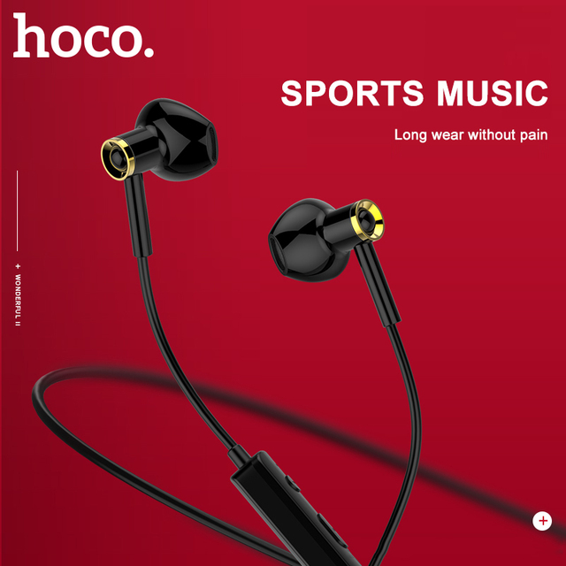 HOCO Original Sport Running Bluetooth Earphone Wireless Headphones With Microphone Stereo surround Bass for iphone huawei Xiaomi