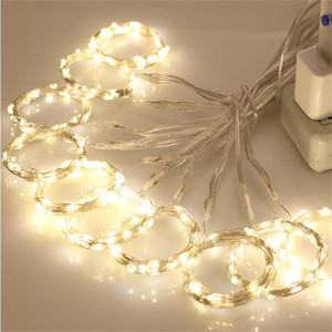 Image 3 - 2*1M LED 防水リモートコントロール 8 モードセットのバッテリーボックス Led カーテンロマンチックなクリスマスの結婚式ホーム屋外照明