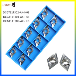 10 pcs carbide insert DCGT11T302 DCGT11T304 DCGT11T308 DCGT32.51 AK H01 aluminum sheet wood lathe CNC turning tool for aluminum