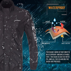 Image 5 - Motoboy オートバイ防雨防水レインコート屋外重水雨具反射 Rainsuits クライミングハイキング雨ジャケット