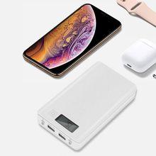Блок питания 6x18650 корпус внешний аккумулятор с двумя usb-портами Poverbank портативный Pover банк питания для телефонов Xiaomi зарядное устройство(без батареи