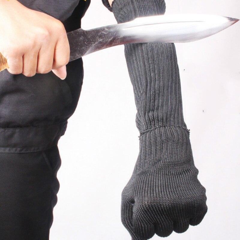 Arm Protection Sleeve,Kevlar Sleeve Cut Resitant 40cm Burn Resistant Anti Abrasion Safety Arm Guard For Garden Kitchen Yark Work