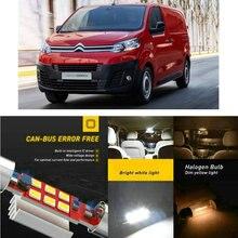 цена LED Interior Car Lights For Citroen dispatch v minivan dispatch vf7 minivan Dome map lamp bulb error free онлайн в 2017 году