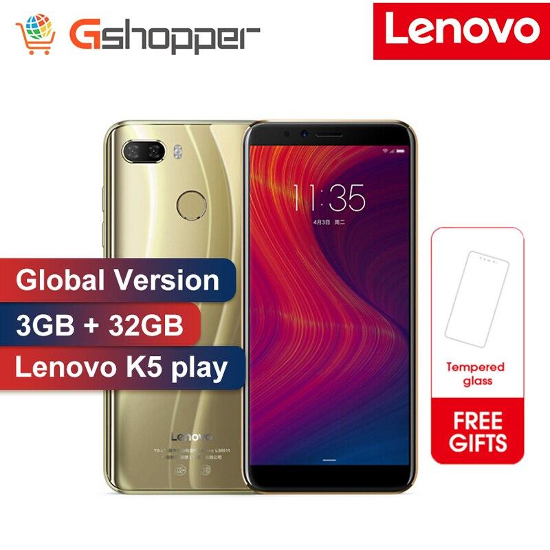 Фото. Глобальная прошивка lenovo K5 Play 3 GB 32 GB Face ID 4G мобильный телефон 5,7 дюймов Snapdragon MSM