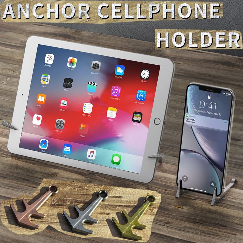 Magnetic Anchor Phone Holder For IPhone 11 Pro X XS Max 8 7 Plus Samsung S10 Huawei Xiaomi Metal Holder For IPad Stands Bracket
