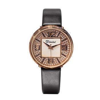 relógio Women Watches Elegant Ladies Leather Strap Watch Women Diamond Crystal Quartz Dress Watch Women Clock relogio feminino