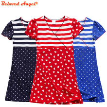 Princess Christmas Sweet Girls Dresses Party Cotton Clothing With Star Print New Design Children Girls Fashion Holiday Dresses children s dresses new girls dresses printed rural children s beach dresses holiday wind factory direct sales spot