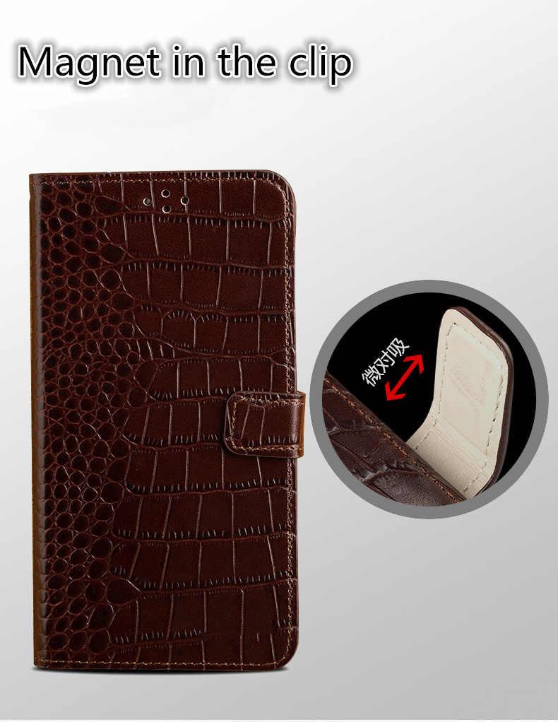 Hakiki deri el kayışı cüzdan durumda standı için Huawei P Akıllı Z Huawei Y9 Başbakan 2019/Huawei P akıllı cüzdan kitap flip case