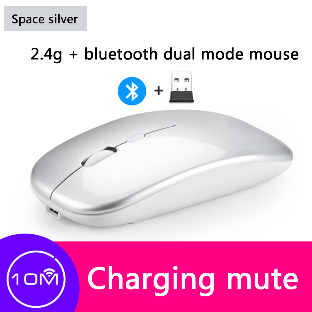 X1 Bluetooth Wireless Dual Mode Optical Charging Mouse Slim And Silent Design Rechargeable Gaming Mouse For PC Laptop