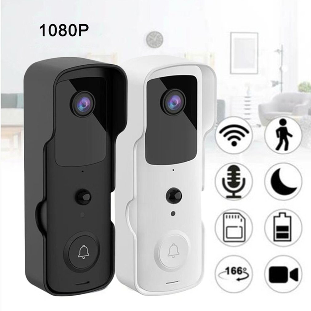 V30 1080P WIFI Visual Smart Doorbell Rechargeable Battery Waterproof Home Monitoring With Intercom Doorbell PIR Wireless Cameras