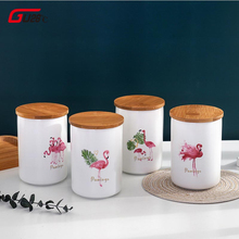 480ML Ceramic Sealed Storage Jar For Spices Tank Container Eating With Lid Bottle Coffee Tea Caddy Kitchen