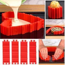 4 sztuk/zestaw silikonowe formy do ciasta magia piec Food Grade Nonstick DIY forma do pieczenia narzędzia zaprojektuj swoje ciasta dowolne kształty| |   -