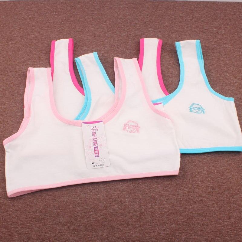 Teenage bra for kids Lingerie Brassiere Sport Maiden Girl Comfy Underwear Bra Cotton Vest Wrapped Chest top
