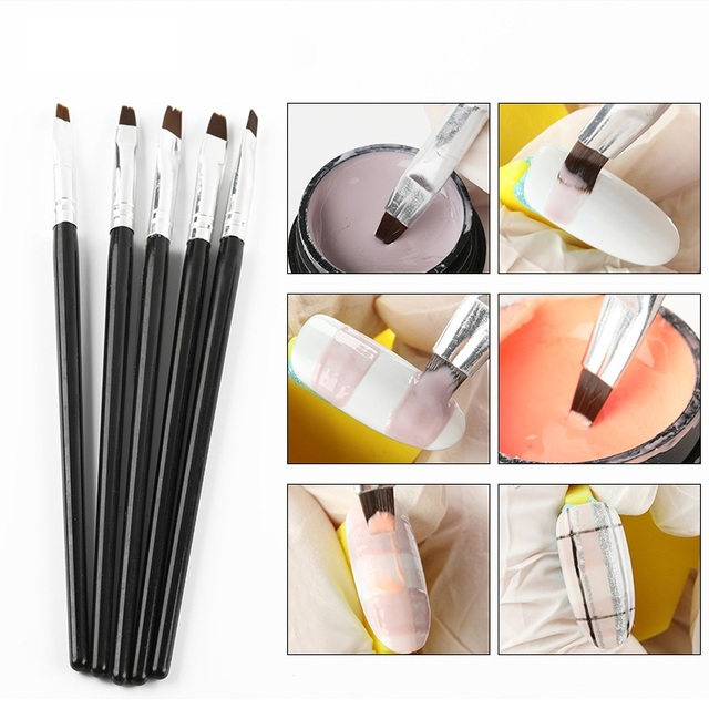Nailwind Gel nail pollish brushes Pens For nail extenion acrylic powder 3D paiting carving line Manicure Set For nail art Brush 4