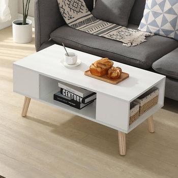 Stolik kawowy ze schowkiem nowoczesny minimalistyczny stolik kawowy malowane szafki Tv połączenie stół z drewna meble do salonu HWC tanie i dobre opinie CN (pochodzenie) Montaż Europa i Ameryka Nowoczesne maroko JB237621 Rectangle Drewniane