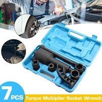 NEW 7PCS Torque Multiplier Wrench Lug Nut Lugnuts Remover Labor Saving Socket Car Wash Maintenance Engine Care Tire Tools Kit