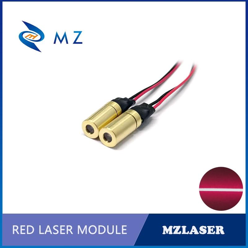 6mm 650nm 1mw Red Line Laser Module APC Drive Circuit Control