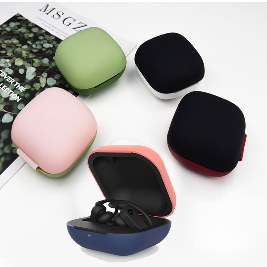 Silicone TPU coque For Apple Beats Power Case fashion 360 full edge Protection Case Bluetooth Wireless Earphone Case