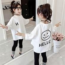 Toddler Kids Full T-shirts Girls Leatter Casual Tops Koszulka Teenage Big Girls White T Shirt Children's Clothes Tee 8 6 10 12