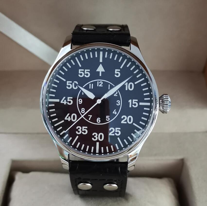 GEERVO Pilot Style 44mm Automatic Men's Watch Imported Japan NH35A Movement Sapphire Crystal C3 Super Luminous G105