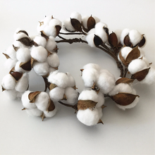 Artificial Cotton DIY Wreath Home Wedding Decoration Christmas Garland Natural Dried Flower Decor Floral Farmhouse