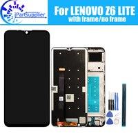 레노버 Z6 라이트 LCD 디스플레이 + 터치 스크린 레노버 Z6 라이트 용 100% 오리지널 테스트 LCD 디지타이저 유리 패널 교체