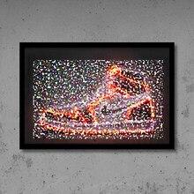 Ja sneaker impressão da arte sapatos de basquete esporte cartaz rua arte da parede néon pintura lona presente idéia homem escritório e decoração casa