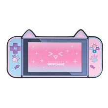 Alfombrilla grande para ratón con orejas de gato para chica, 80CM x 40CM, gruesa, para juegos de ordenador, antideslizante, rosa, dibujos animados