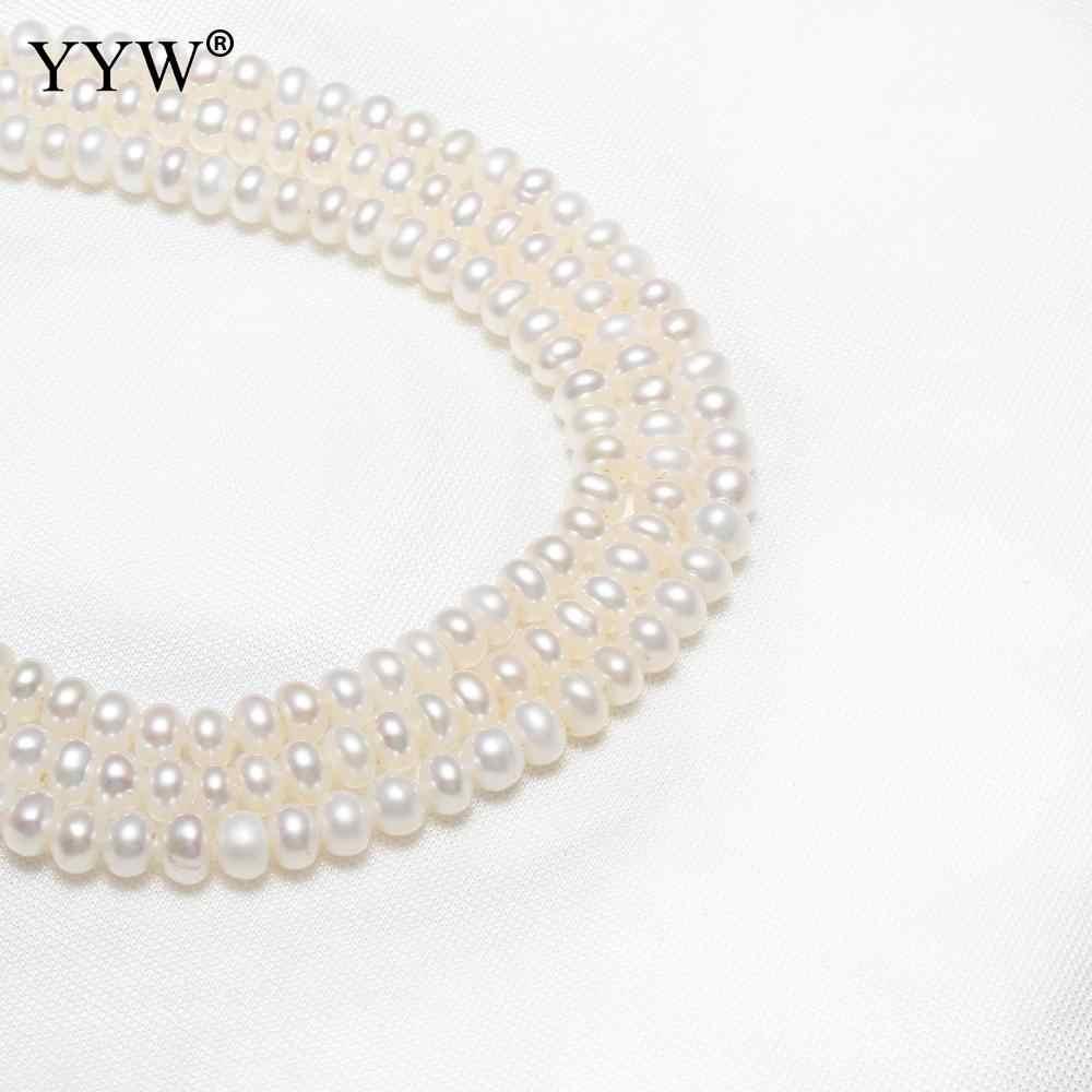 4-4,5 мм культивированный пресноводный жемчуг неправильной формы бусины натуральный белый свободные бусины ювелирных изделий Бесплатная доставка Для Diy ожерелье браслет