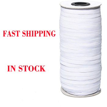 70/100/160 Yards Elastic Bands Elastic Rope 3/6mm Rubber Elastic Cord Band Garment Sewing Accessories White Elastic Rope mask elastic bands 2mm colorful round hair elastic rope high quality rubber line diy sewing crafts accessories elastic cord