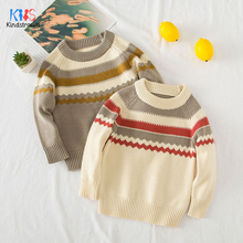 2019 Autumn Boys Sweaters Baby Boy/Girls Turtleneck Sweaters Stripe children Sweaters For Winter Knitted Bottoming Clothes DC190 недорого
