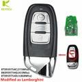 Клавиатура с 3 кнопками, 315 МГц/868 МГц, Модифицированная как L * amborghini для Audi Q5, A5, A6, A7, A8, RS4, RS5, S4, S5, 8T0 959, 754C