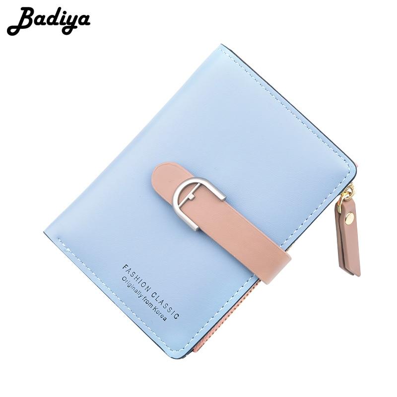 Badiya Women's Wallet Multi-card Slots ID Card Holder Short Bifold Soft Clutch Bag Fashion New Ladies Hasp Zipper Coin Purse