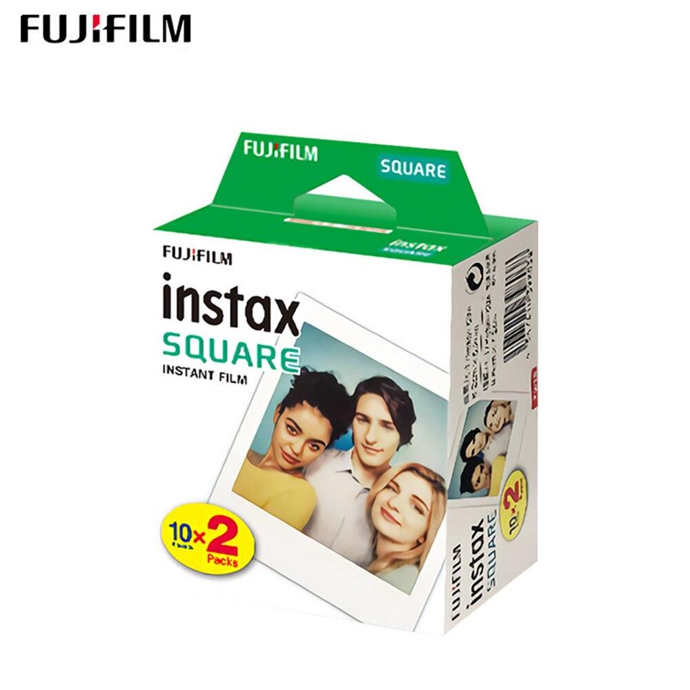 Fujifilm instax square films branco borda foto papel para fuji instax quadrado sq6/sq10 filmes instantâneos câmera compartilhar SP-3 impressora
