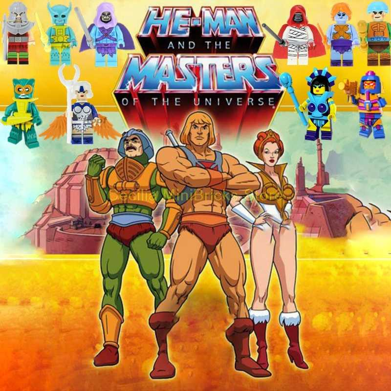 He-Man Masters of the Universe He-Man She-Ra Skeletor Building Block Toys For Children Cute Cartoon Anime Figures Model Technic