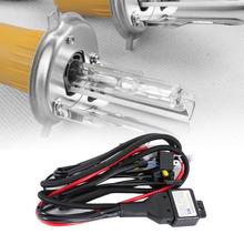 Uniwersalny 35W 12V Xenon reflektor kable W wiązce Hi Lo HID przekaźnik akumulatora drutu Controllor uprząż kabel do samochodu reflektor samochodowy tanie tanio 1 55m MOTOWOLF CN (pochodzenie) 0 035